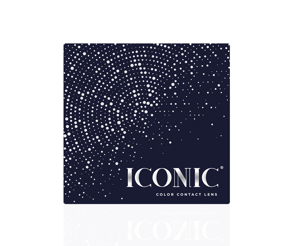 ICONIC COLOR CONTACT LENS WITH CONTOUR NUMBERED